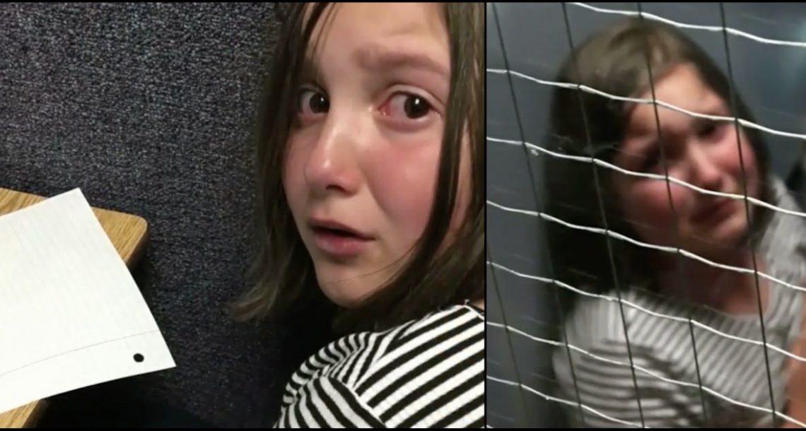 אמא אספה את בתה בת ה 8 אחרי שקיבל ריתוק – אז גילתה את העונש הפסיכי של בית הספר