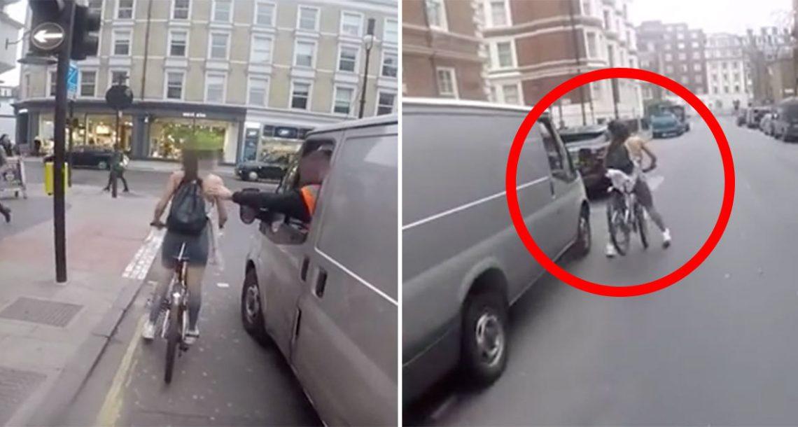 שני גברים במכונית הטרידו רוכבת אופניים עם הערת מיניות דוחות – אז היא החליטה לעשות מעשה…