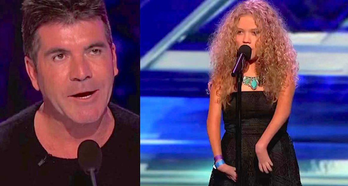 סיימון קאוול הבחין שהזמרת נראית שונה, אבל הוא היה בהלם כשהיא חשפה את הקול שלה!