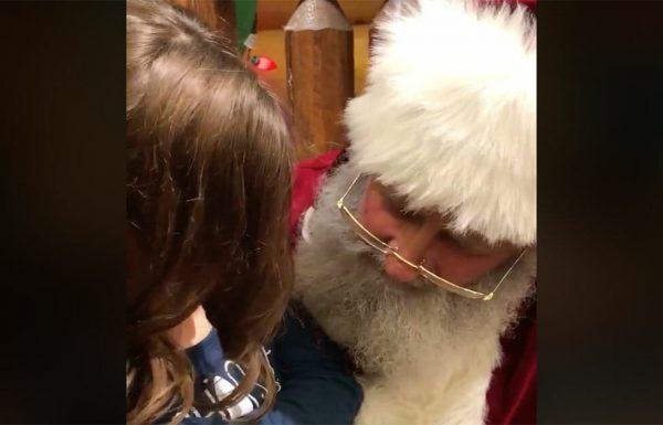 ילדה ביקשה מסנטה קלאוס לרפא בת דודה עם לוקמיה – שניות אחר כך אביה הקשוח היה בדמעות