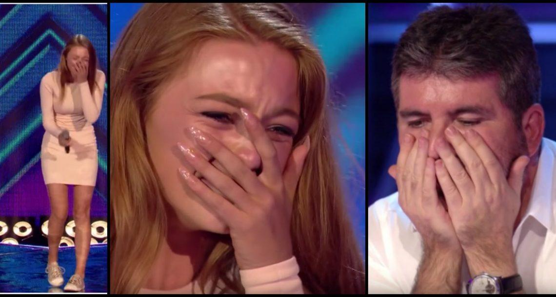 היא הייתה המתמודדת האחרונה על הבמה, ונשברה בדמעות כששמעה מה סיימון אמר לה