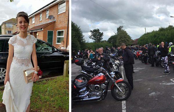 נערה שהייתה קורבן לבריונות לא העזה ללכת לנשף הסיום בתיכון – אז 120 אופנוענים דפקו על דלת ביתה