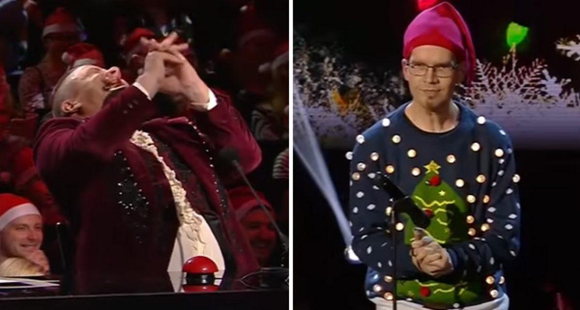 הבחור הזה זכה בתכנית Finland's Got Talent בזכות קולות פלוצים שהוא עושה עם הידיים