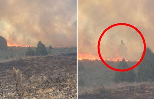 אדם צפה בשריפה משתוללת מקיפה את בית משפחתו – אך כאשר הסתכל עליה שוב הוא ראה את הבלתי ייאמן