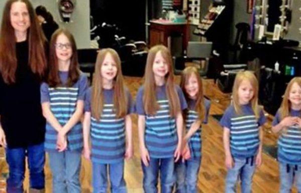 בריונים צחקו על השיער הארוך של 6 אחים, אז אמא סיפרה אותם והאמת קורעת הלב נחשפה