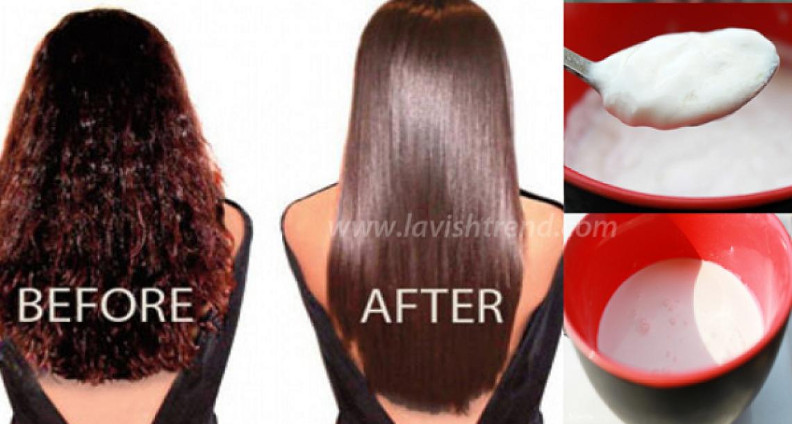 איך לעשות החלקת שיער טבעית בעזרת שני מרכיבים בלבד