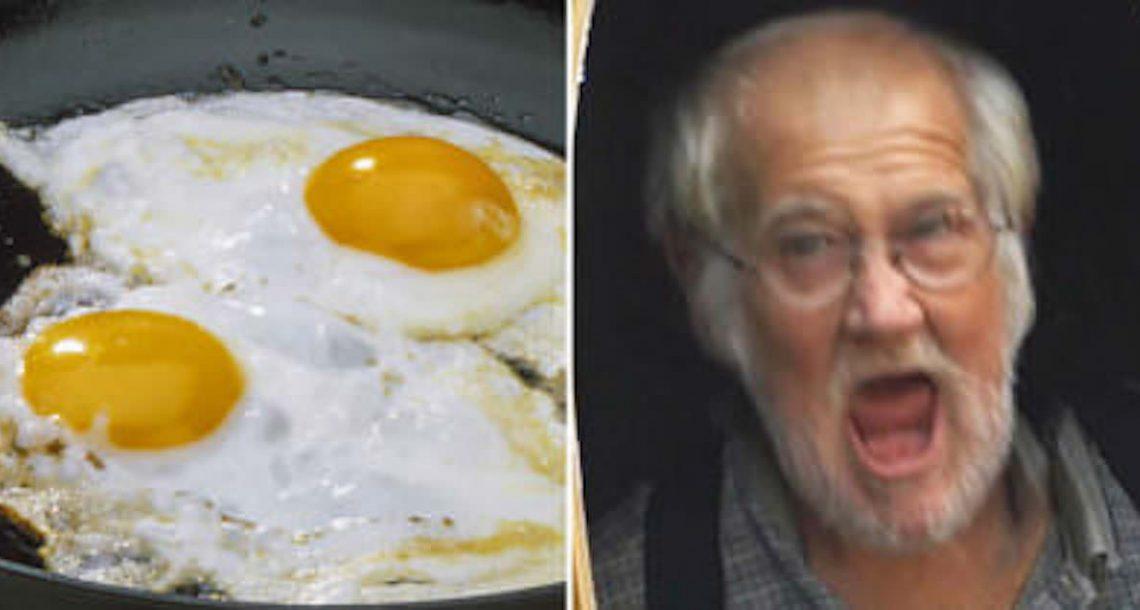 הבעל נהיה מתוסכל כאשר אישתו הכינה לו ביצים לארוחת הבוקר – חכו עד לרגע בו הוא חושף מדוע