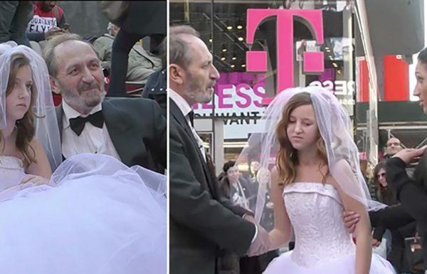 הוא בן 65, היא בת 12. עכשיו תראו את התגובות של האנשים כשהם מתחתנים
