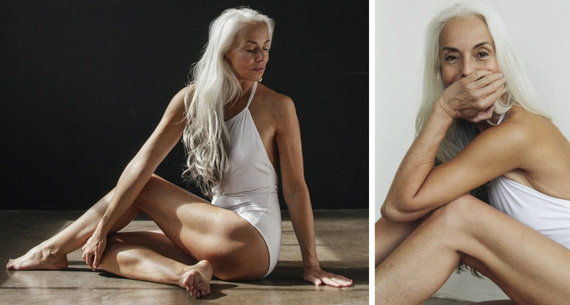 דוגמנית בת 61 נראית מהמם בקמפיין בגדי הים שלה, וחושפת את סוד היופי שלה